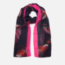 Joules Women's Wensley Pheasants Print Scarf - Navy