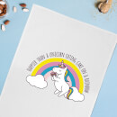 Happier Than A Unicorn Eating Cake Cotton Tea Towel