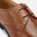 Clarks Men's Bampton Lace Leather Derby Shoes - Tan