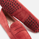 Tod's Women's Suede Gommini Loafers - Red
