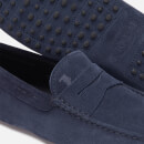 Tod's Men's Suede Simple Gommini Driving Shoes - Blue