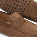 Tod's Men's Suede Simple Gommini Driving Shoes - Tan