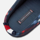Tommy Hilfiger Men's Flag Badge Check Slippers - RWB Navy