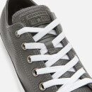 Converse Men's Chuck Taylor All Star Leather Ox Trainers - Carbon Grey/White/Black