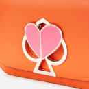Kate Spade New York Women's Nicola Twistlock Small Flap Shoulder - Juicy Orange
