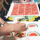 Make your Own Lino Printed Cushion Cover or T-Towel Creative Workshop for Two