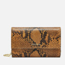 Coccinelle Women's Metallic Python Chain Bag - Caramel