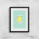 Infographic Screwdriver Art Print