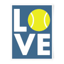Love Tennis Art Print