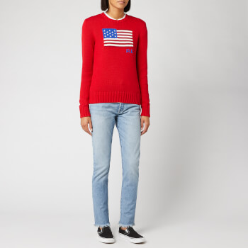 Polo Ralph Lauren Women's Flag Long Sleeve Jumper - Rl2000 Red/Multi