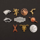 Game of Thrones 10-Pack Pin Badges Houses & Logo
