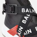 Balmain Men's B-Troop Strap Nylon Trainers - Black/Red