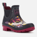 Joules Women's Wellibob Short Wellies - Black Floral