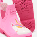 Joules Kids' Wellibob Short Wellies - Pink Unicorn