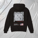 NASA Apollo 11 One Small Step Embroidered Unisex Hoodie - Schwarz