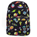 Loungefly Rick & Morty Galaxy Print Nylon Backpack