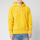 Champion Men's Small Script Hooded Sweatshirt - Yellow