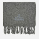 Vivienne Westwood Women's Wool Embroidered Scarf - Grey