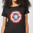Marvel Captain America Pixelated Shield Women's T-Shirt - Black