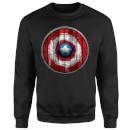 Marvel Captain America Wooden Shield Sweatshirt - Black