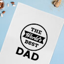 The World's Best Dad Cotton Tea Towel