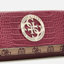 Guess Women's Magnolia Pocket Trifold Wallet - Merlot