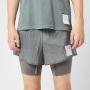 "Satisfy Men's Coffee Thermal Short Distance 8"" Shorts - Steel"
