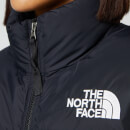 The North Face Women's Nuptse Crop Jacket - Burnt Olive Green Waxed Camo Print