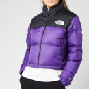 The North Face Women's Nuptse Crop Jacket - Hero Purple