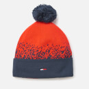 Tommy Hilfiger Women's Pom Pom Degrade Flag Beanie - Corporate