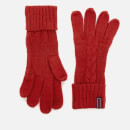 Superdry Women's Lannah Cable Gloves - Furnace Red