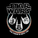 Star Wars The Force Is With You Retro Heads Men's T-Shirt - Black