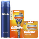 Fusion5 Men's Bundle (Razor Handle, 4 Count Blade and Shave Prep 200ml)