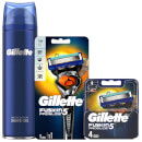 Fusion5 Men's ProGlide Bundle (Razor Handle, 4 Count Blade and Shave Prep 200ml)