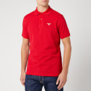 Barbour Men's Tartan Pique Polo Shirt - Red