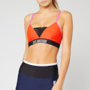 P.E Nation Women's Centre Mark Sports Bra - Red Multi