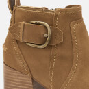 UGG Women's Leahy Buckle Heeled Ankle Boots - Chestnut