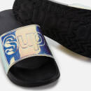 Superdry Women's Holographic Glitter Pool Slide Sandals - Black