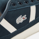 Lacoste Men's Sideline Suede Trainers - Navy/Off White
