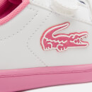 Lacoste Toddlers' Carnaby Evo Trainers - White/Pink