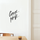 Coffee Please Wall Decal