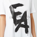 Emporio Armani Women's Graffiti Logo T-Shirt - White