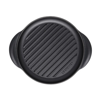 Le Creuset Signature Cast Iron Round Grill - 25cm - Satin Black