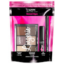 NYX Professional Makeup Natural Hype Eyeshadow, Eyeliner and Mascara Gift Set (Worth £25.00)