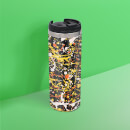 Splatter Pattern Stainless Steel Travel Mug - Metallic Finish