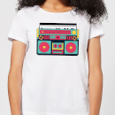 Colourful Boombox Women's T-Shirt - White