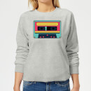 Cassette Tape Women's Sweatshirt - Grey