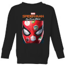 Spider-Man Far From Home Stickers Mask Kids' Sweatshirt - Black
