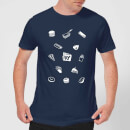 Does It Fry Pattern Men's T-Shirt - Navy