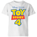 Toy Story 4 Logo Kids' T-Shirt - White